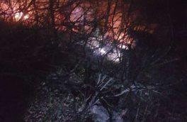 ۱.۵ هکتار از اراضی مرتعی و جنگلی ارسباران طعمه حریق شد