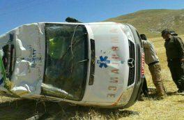 حادثه برای آمبولانس بیمارستان اهر چهار مصدوم برجا گذاشت
