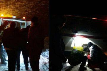 نجات دو فرد اهری گرفتار در کولاک شدید