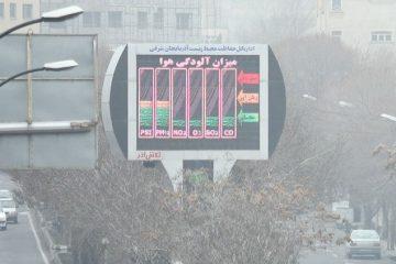 غلظت آلاینده های جوی در آذربایجان شرقی افزایش می یابد