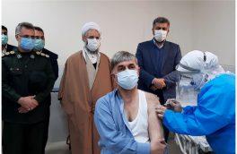 اولین واکسن کرونا در شهرستان اهر تزریق شد