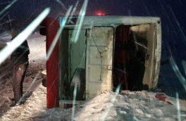 واژگونی مینی بوس با ۶ مصدوم در جاده اهر- مشگین شهر