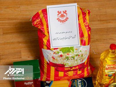 توزیع ۶۰۰ بسته کمک معیشتی توسط شرکت صنعتی و معدنی مولیبدن مس آذربایجان در اهر