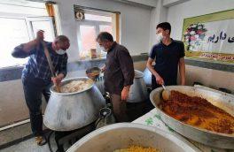 پخت ۱۲۰۰۰ پُرس غذای گرم در اهر و توزیع بین نیازمندان