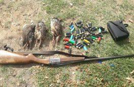 دستگیری ۱۷ شکارچی متخلف غیر بومی در اهر طی سال ۹۹