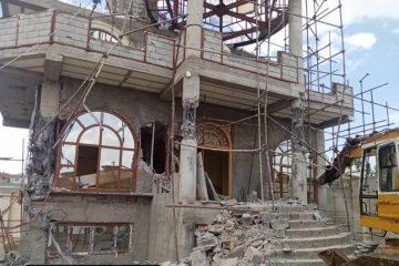 تخریب ویلای غیرقانونی ۲۵ میلیارد تومانی در تبریز