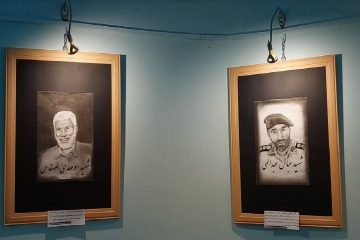 افتتاح نمایشگاه طراحی پرتره در اهر
